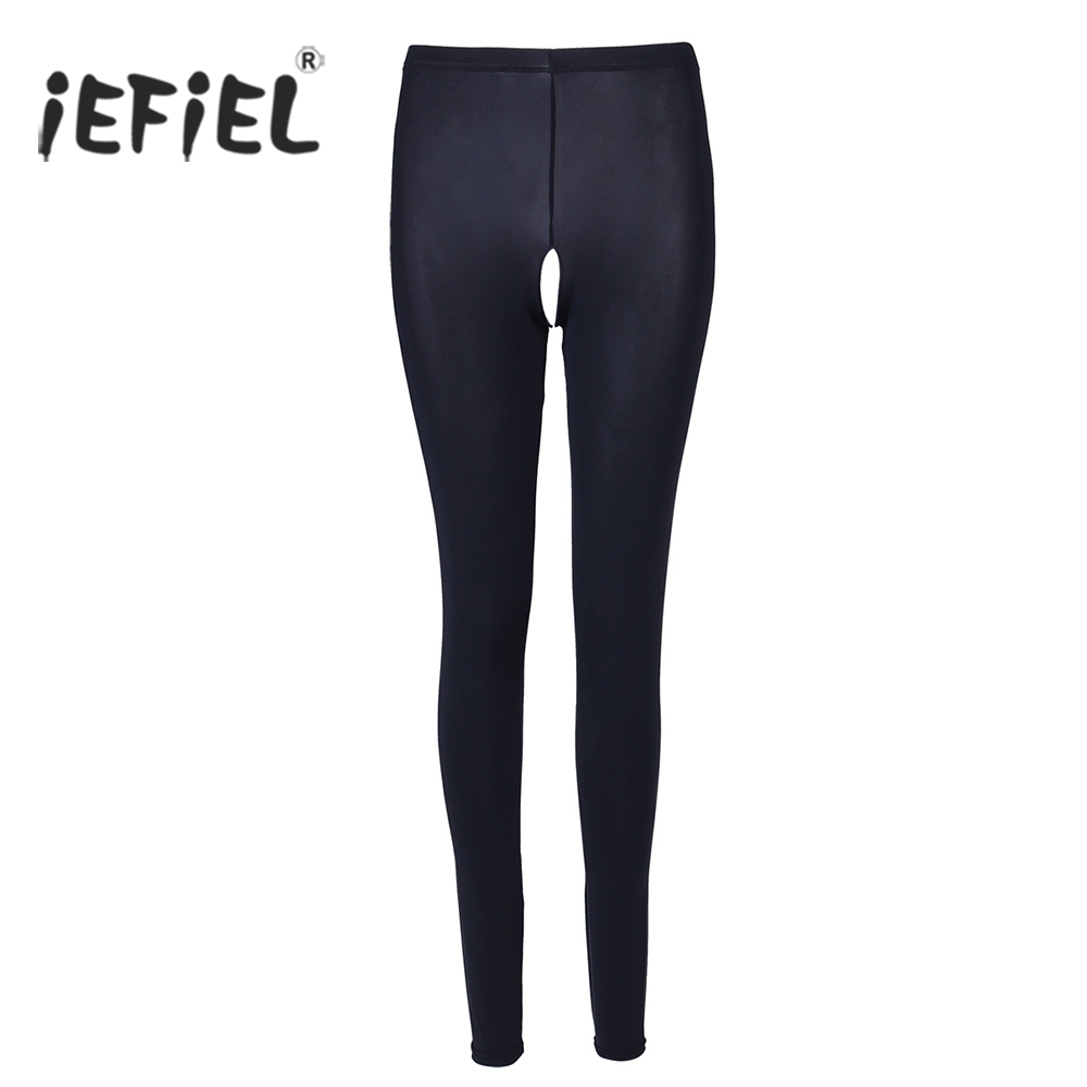 iEFiEL Sexy Fitness   Legging   for Womens Lingerie See-through Crotchless Sheer   Leggings   Trousers for Women's Slim Cut Sexy Pants