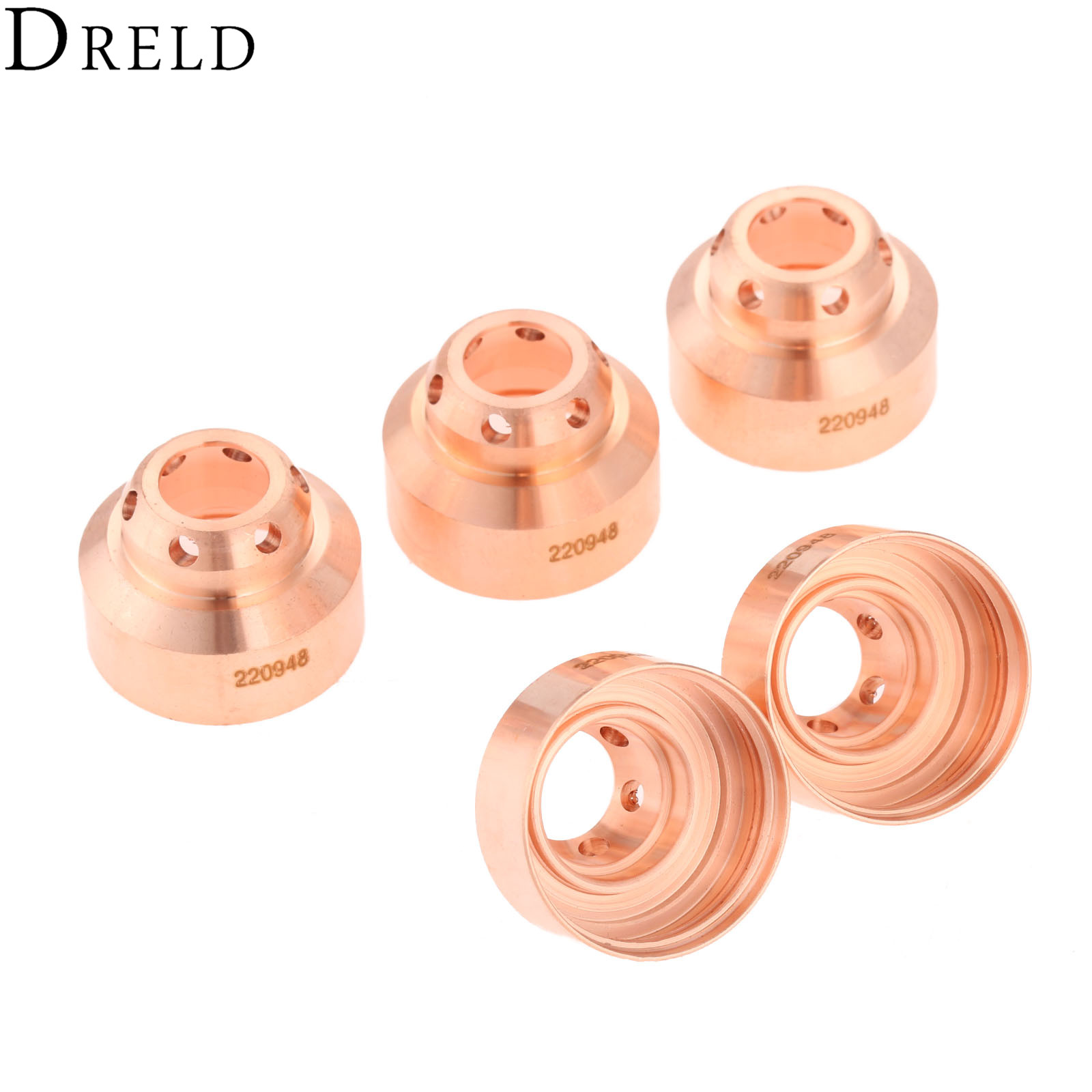 Image 2 - DRELD 5Pcs 45A Plasma Shield 220948 Fit For 65/85/105 Plasma Cutting Torch Consumables Welding Soldering Supplies ReplacementWelding Nozzles   -
