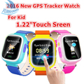 1.22 polegada HD Tela Sensível Ao Toque de Chamada SOS relógio de Pulso Seguro GPS LBS localizador rastreador para o miúdo criança smart watch monitor anti perdido