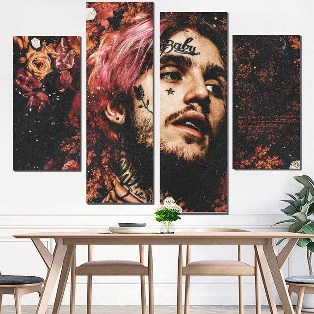 Canvas Painting Lil Peep Wall Poster Art Print Custom Decorative Pictures Tableau Giclee Pop