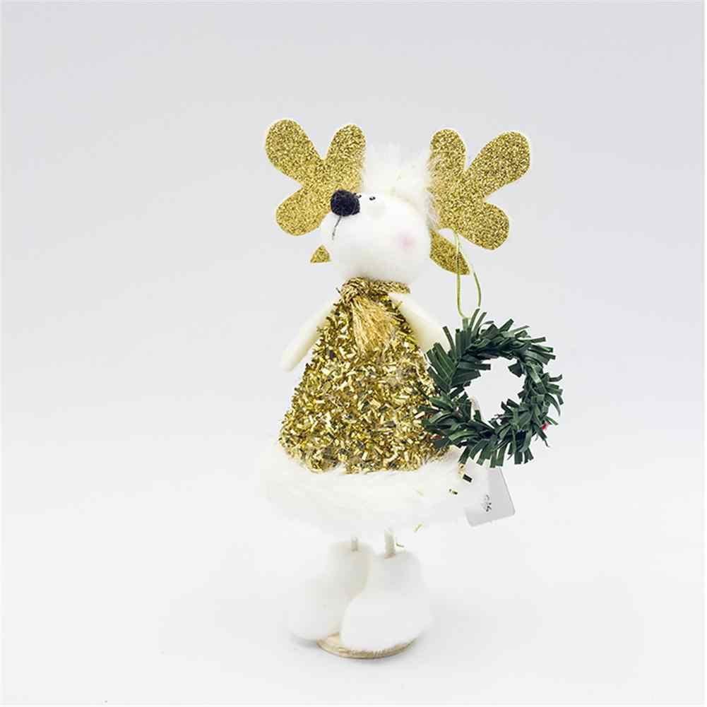 1 комплект милого Санты снеговика украшение куклы Рождественская елка настенное украшение плюшевые мягкие Детские кукольные подвески