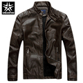 URBANFIND PU Leather Jacket Men Winter Fashion Coats Size M-2XL New Motorcycle Leather Men Spring Coats Slim Fit Black / Coffee