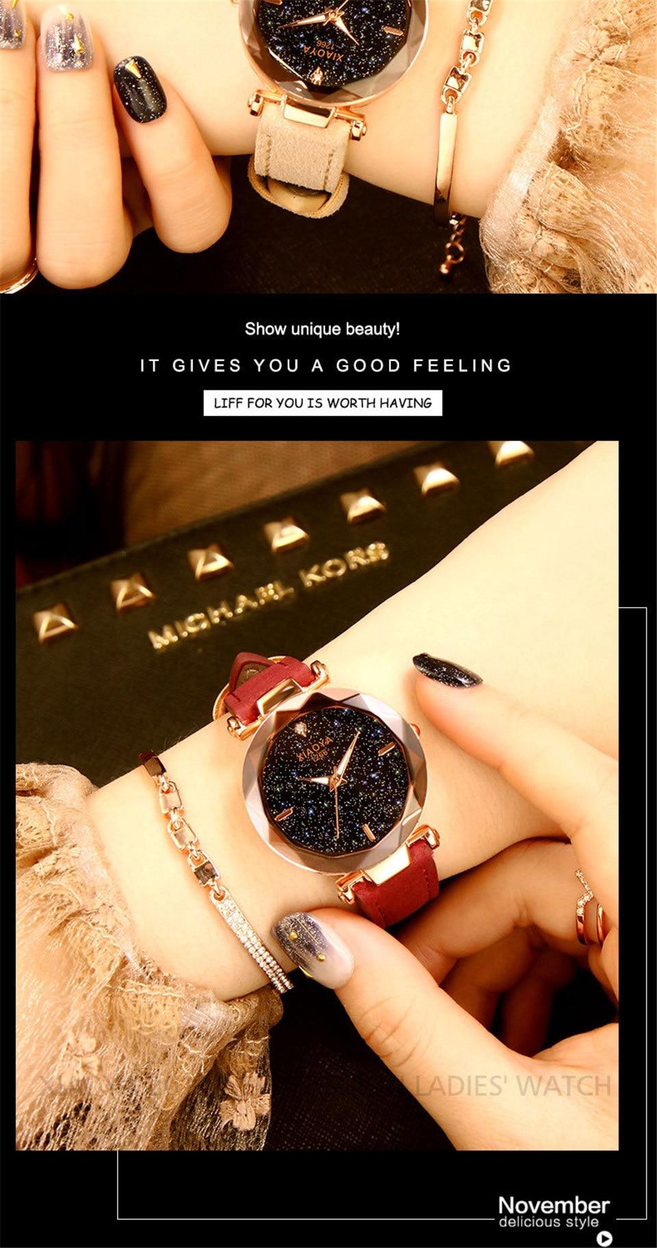 2018 Starry Sky Watch Women Minimalist Top Brand Luxury Wrist Watch For Ladies Female Clock Damski Montre Femme (17)
