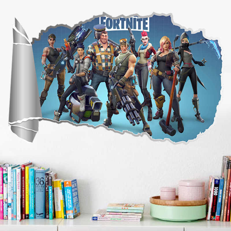 Hole View Game 3D Wall Sticker Bathroom Toilet Kids Room Decoration Wall Decals Sticker Refrigerator Waterproof Poster
