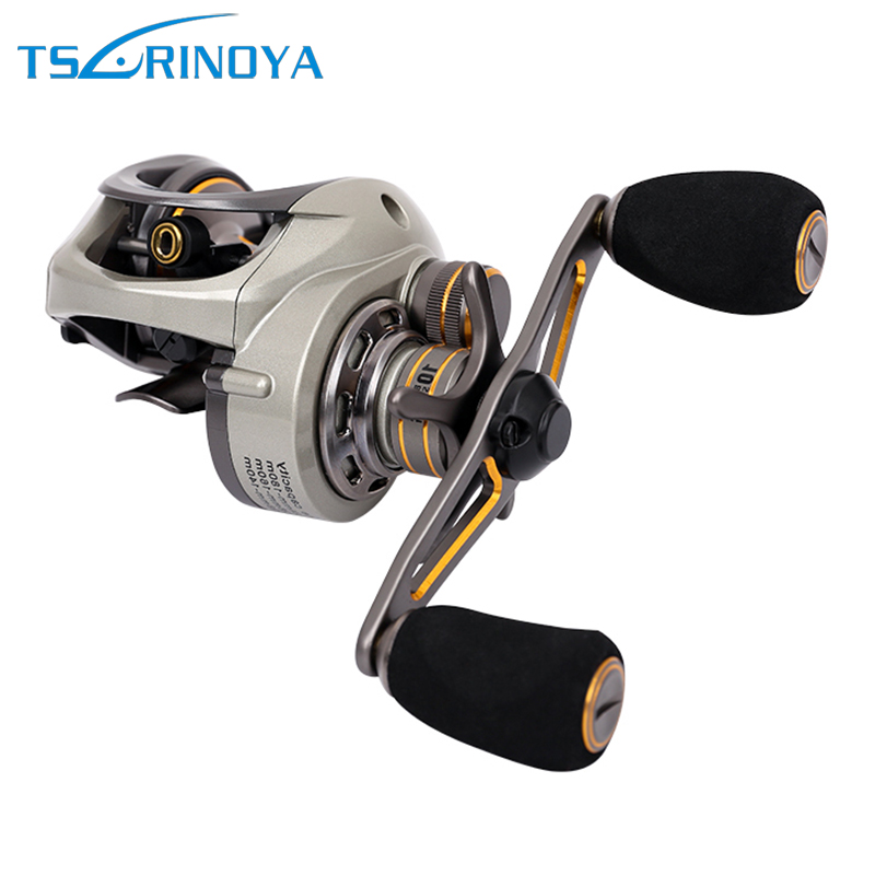 Trulinoya CK150 Dual Brakes System Baitcasting Fishing Reel Saltwater Bait Casting Low Profile Fishing Reel Max Drag 6KG trulinoya full metal body baitcasting reel 7 0 1 10bb carbon fiber double brake bait casting fishing reel max drag 7kg