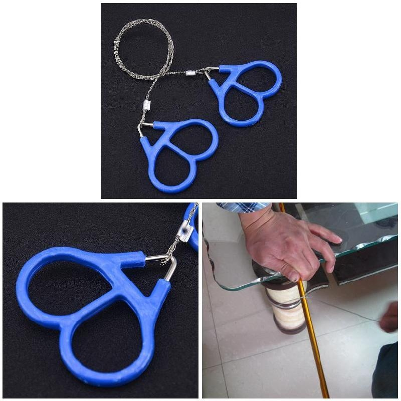 Outdoor Camping Hiking Pocket Saw Wire Travel Emergency Survive Tool Stainless Steel Wire Kits With Finger Handle For Cutting