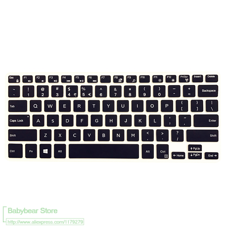 Silicone Keyboard Film Cover Skin Protector for Dell Inspiron Latitude 11 5000 5175 5179 10.8 Inch 11 5000 11 5175 11 5179-Clear