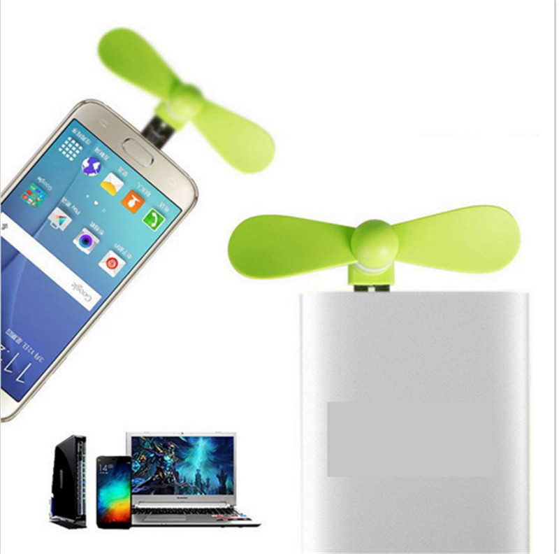 2 in 1 Mini Cool Portable Power Bank USB Fan Micro USB fans Gadgets Tester For