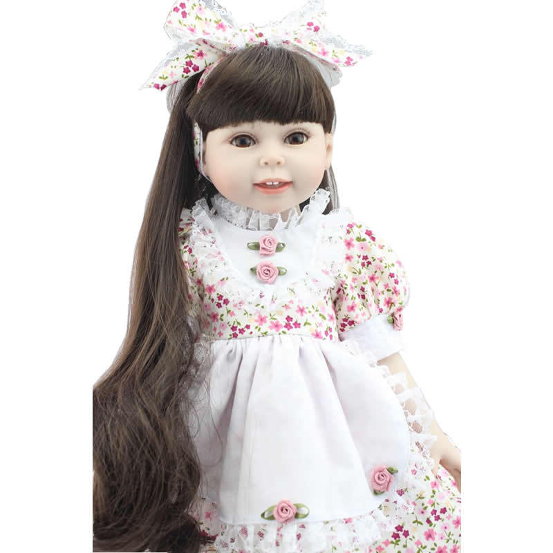 18 Inch American full vinyl Girl Dolls Cheap Girl Toys Realistic American Doll Toy Lifesize Doll Baby Alive Lifelike