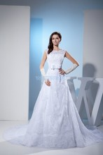 free shipping women clothing fashion 2013 lace new design dress winter handmade bow custom size/color bridal gown wedding