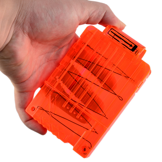Surwish Soft Bullet Clips For Nerf Toy Gun 5 Bullets Ammo Cartridge Dart for Nerf Gun Clips - Transparent Orange