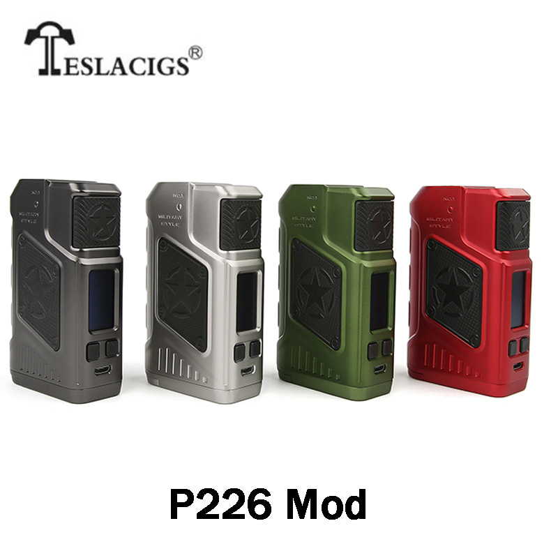 Original Tesla P226 Mod E Cig 220w Teslacigs TC Box Mod Fit Dual Hi-rate 18650 Cell For Tesla P226 Kit Electronic Cigarette Vape(China)