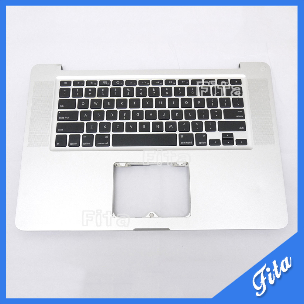 Replacement TopCase with US Keyboard for Apple MacBook Pro 15 A1286 Palmrest US Keyboard Year 2009 po layout palmrest white color topcase for a1181 full keyboard topcase with poland keyboard for apple macbook 13