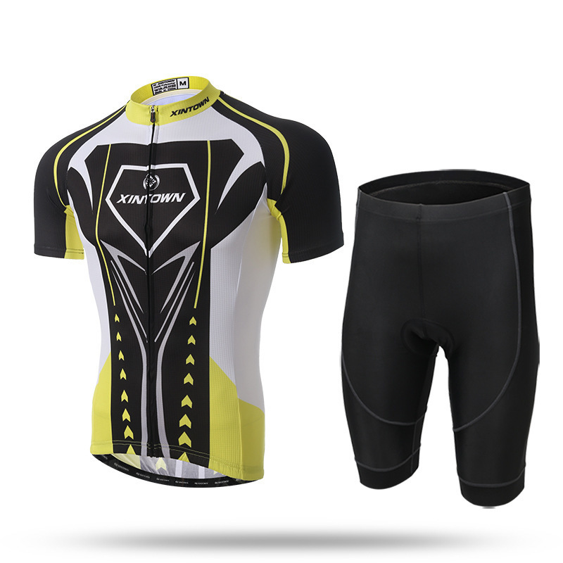 XINTOWN Short Sleeve Breathable MTB Bike Clothing Men Summer Bicycle Clothes Ropa Ciclismo 100% Polyester Cycling Jersey Set polyester summer breathable cycling jerseys pro team italia short sleeve bike clothing mtb ropa ciclismo bicycle maillot gel pad