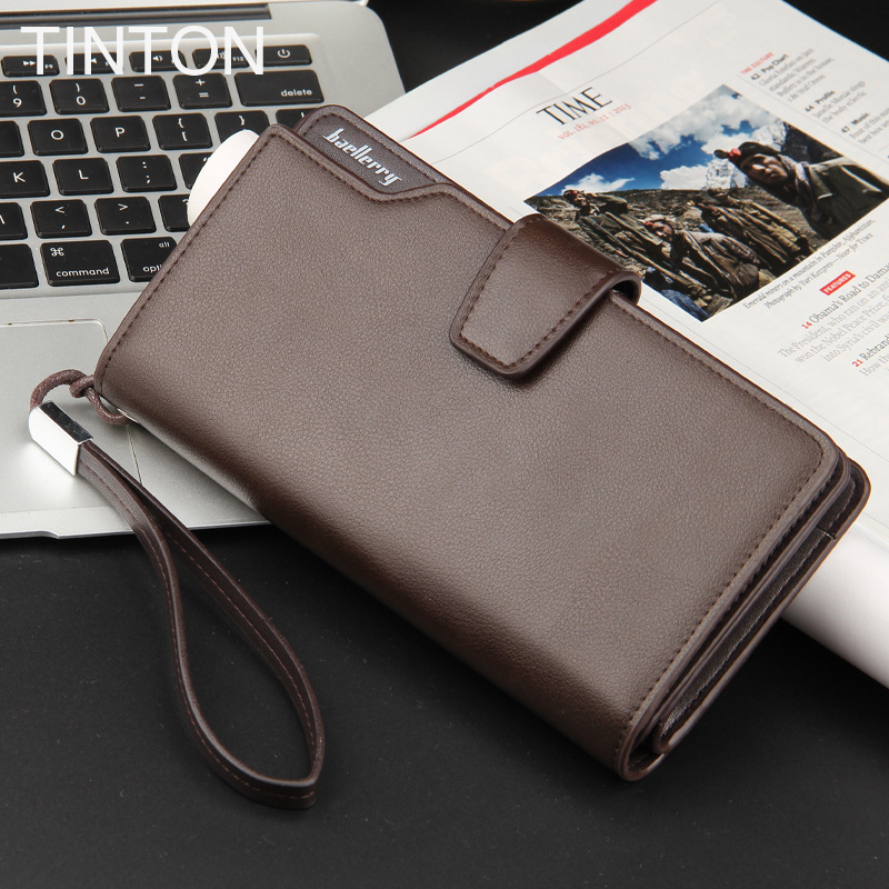 TINTON 2018 new mens simple wallet Clutch mens wallet business card solid color 3 fold wallet coin purse card bit hot sell