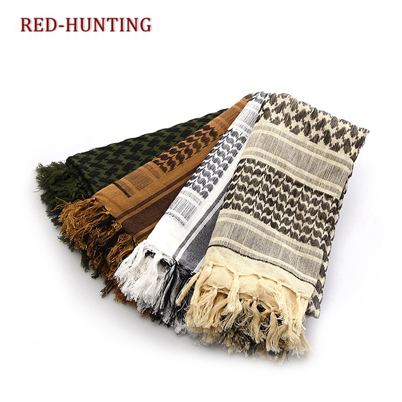 Outdoor Hiking Military Shemagh Scarf Tactical Desert Arab Keffiyeh scarf arabic 100% Cotton