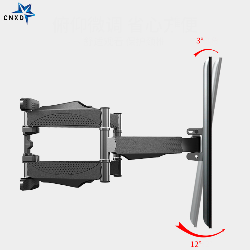 "Full Motion 32""-60"" LCD LED TV Wall Mount Retractable TV Rack Wall Mount Lcd Bracket 6 Swing Arms MAX VESA 400x400mm 3"