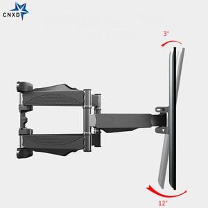 Image 3 - Наклонно поворотный настенный кронштейн для ЖК, LED ТВ 32 60 дюймов, выдвижная стойка для телевизора, настенное крепление для ЖК ТВ с 6 поворотными рычагами, MAX VESA 400x400 мм