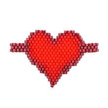 Shinus 10Pcs/lot Perles Miyuki Bracelet Love Heart Pendants Couple Pulseras Mujer Handmade Accessories Summer Beautiful Bijoux