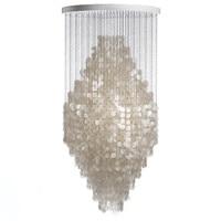 Modern White Capiz Shell Chandeliers Lighting Lustre Pendant Lamps Restaurant Hanging Lamp Light kithcen Fixture luminaire avize