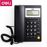 Deli 785 seat type telephone wall hanging available corded phone home office telephone machine caller ID date time display