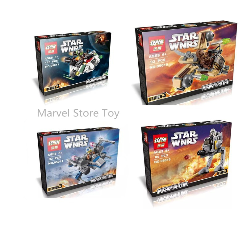 font b LEPIN b font 05011 05013 05015 05016 Star Wars Storm Soldier Micro Fighters