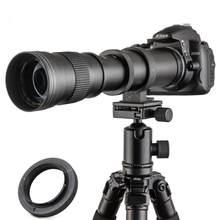 JINTU 420-800mm f/8.3 Manual Telephoto Lens For Nikon Camera D850 D810 D800 D750 D700 D610 D300 D3100 D3200 D3300 D3400 D7500