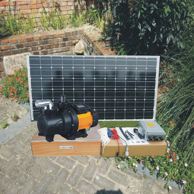 Swimming Pool Theory : Yearswarranty v w solar powered swimming pool pump