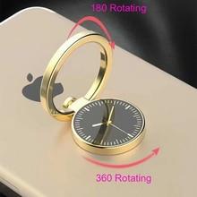 360 Rotating Gold Metal Watch Ring Holder For Mobile Phone Bracket Aluminium Stand Magnet Car Universal Finger