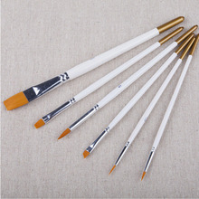 6 pcs/lot Nylon Multifunctional Paint Brush for Oil Watercolor Gouache Artist Painting Drawing Art Supplies Free shipping 702