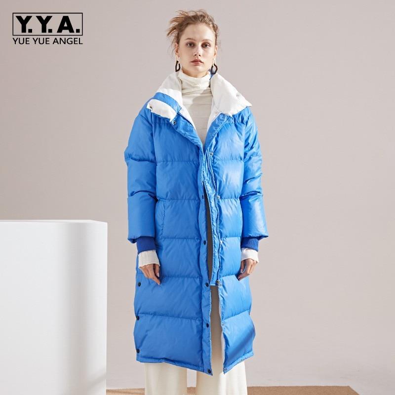 5 Dama Azul Moda Mujer De 3 Invierno Nieve Chaqueta 4 2 1 Pato Recto fwRqtXT