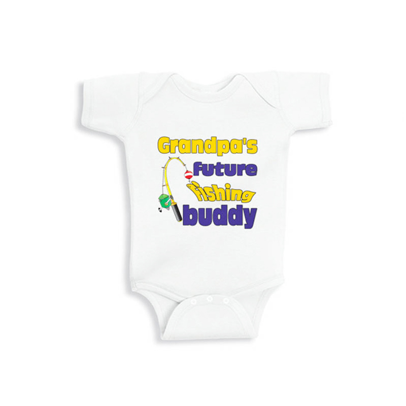 496a9161f Detail Feedback Questions about Culbutomind Grandpas future fishing buddy  personalized baby bodysuit white short sleeve 100% cotton bodysuit on ...