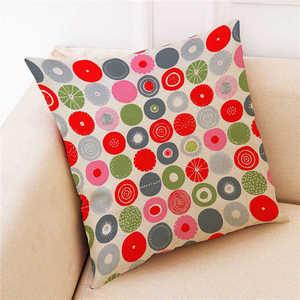 Image 5 - Renkli desen yastık kılıfı kapak süper yumuşak kumaş ev yastık basit geometrik atmak yatak yastık kılıfı yastık kapakları