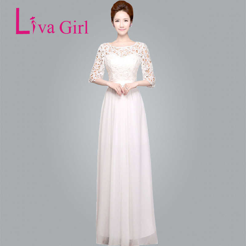 e139deb3ca Detail Feedback Questions about LIVA GIRL Chiffon Lace Party Long ...