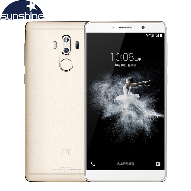 Original ZTE Axon 7 Max 4G LTE Mobile phone 6.0'' 13MP 4GB RAM 64GB ROM Octa Core Fingerprint 4100mAh Smartphone