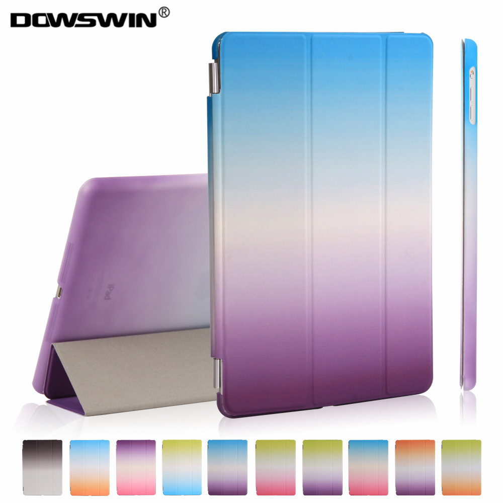 for new ipad 9.7 case 2017 release smart wake up sleep pu leather with pc back cover 3-fold rainbow gradient magnetic flip stand free shipping new 10 1 original stand magnetic leather case cover for lenovo ibm thinkpad 10 tablet pc with sleep function