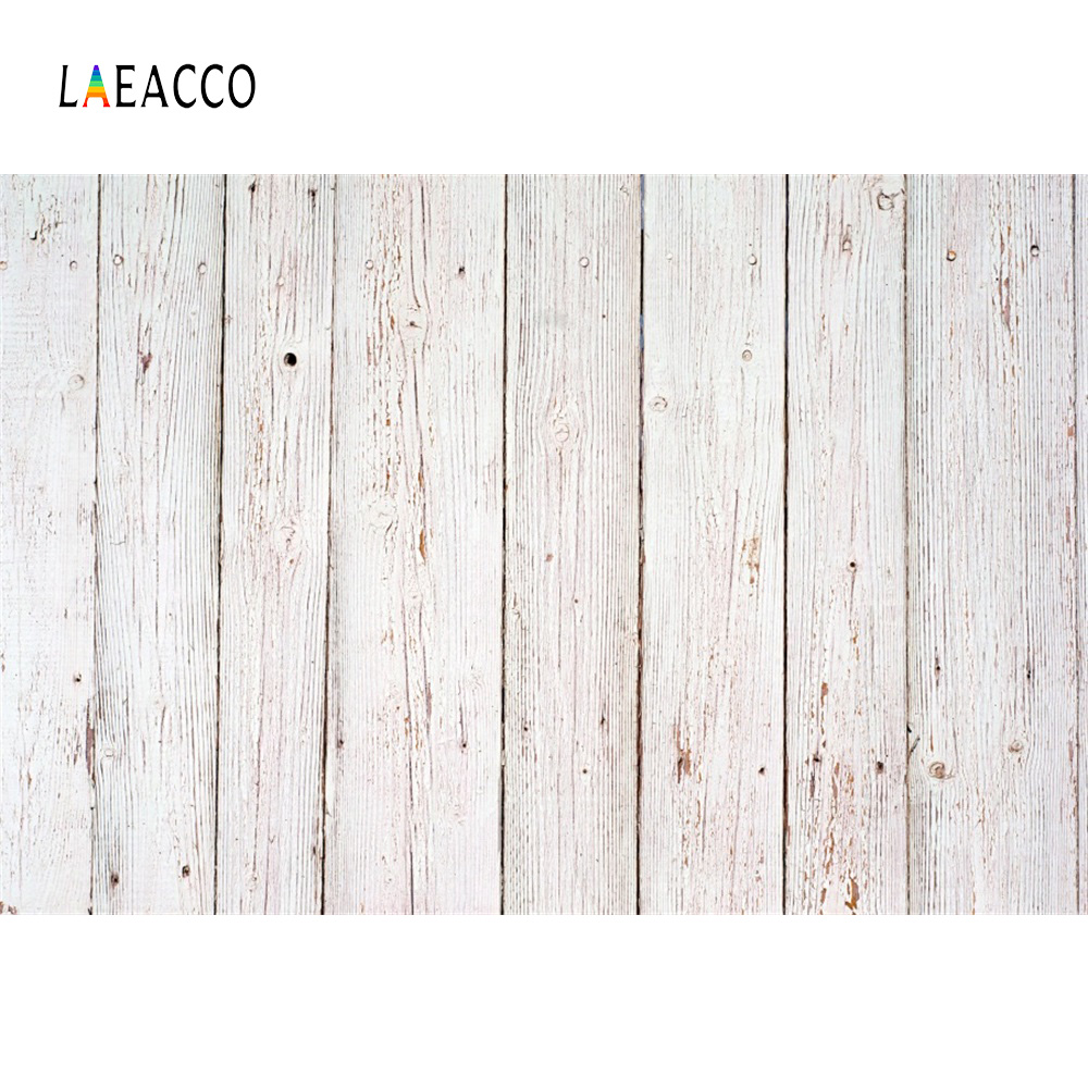 Laeacco White Wooden Board Plank Texture Pet Doll Portrait Grunge Photography Backgrounds Photography Backdrops For Photo Studio(China)