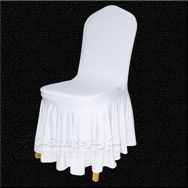 50 White Spandex Wedding Chair Covers For Weddings Banquet