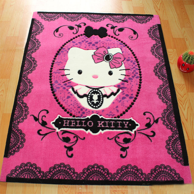 Free Shipping Hello Kitty Printed Cartoon Floor Carpet