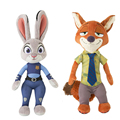 30CM New Kawaii Zootopia Nick Wilde Embroidery Judy Hopps Plush Toy Stuffed Animals Cartoon Dolls Animation Toys Children Gift