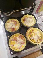 Multifunctional Automactic 220V 4pcs Electric Pizza Baking Furnace Machine Electric Scones Roasted Eggs Frying Oven EU/AU/UK