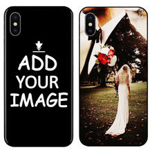 Custom Personalized Make your pattern Photo images Phone Black Sotf TPU Cover Case for iPhone 6 6S 7 8 Plus 5s 5 X XR XS MAX