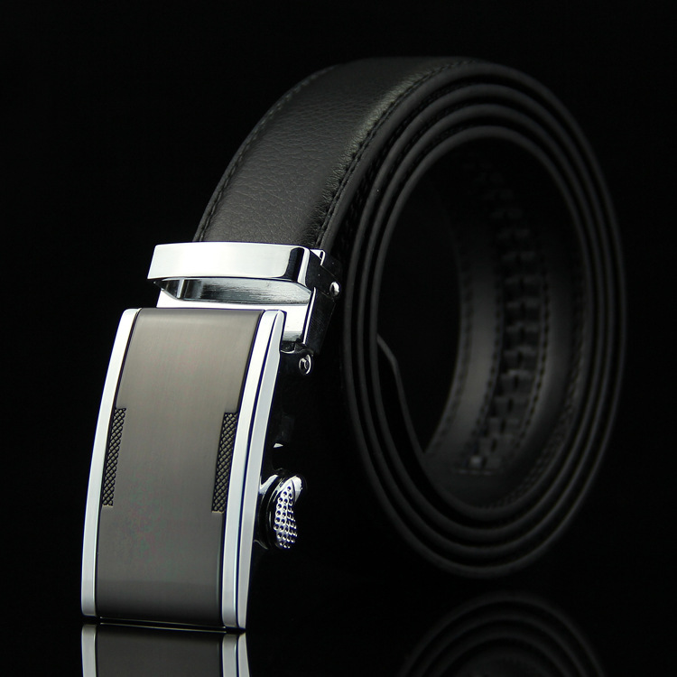 Alert Wowtiger Black White Width 35mm Cowhide Genuine Leather Belt For Men High Quality Male Automatic Buckle Brand Luxury Mens Belts Sales Of Quality Assurance Apparel Accessories