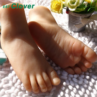 Full Silicone Foot,Sex toys Female Mannequin Feet Model 19# A Pair A690
