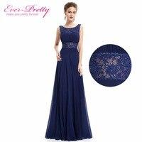 Ever Pretty Navy Blue Sexy V neck Backless Design Mother Of The Bride Dress EP08741NB A Line Elegant Dress 2018
