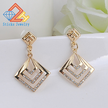 New fashion geometry earring cheap shallow KC gold earrings woman jewelry factory direct wholesale price