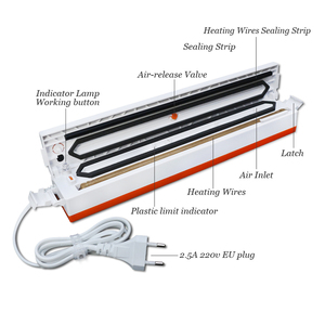 Image 5 - Cymye Food Vacuum Sealer QH01 Packaging Machine 220V including 15Pcs bag Vaccum Packer can be use for food saver