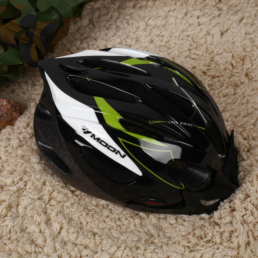 Ultralight cycling helmet 17 hole mtb mountain road bicycle protective helmet with visor m l for