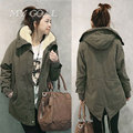 2016 Fashion Womens Winter Jackets and Coats New Korean Women Thick Hairy Gall Swallowtail Jacket and Long Cashmere Coat