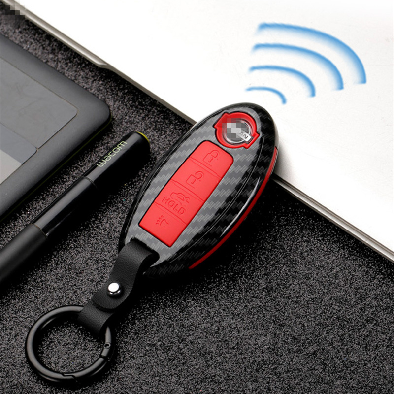 Carbon stripe Matte texture car key cover case for Nissan Qashqai J10 J11 X Trail t31 t32 kicks Tiida Pathfinder Murano Note-in Key Case for Car from Automobiles & Motorcycles